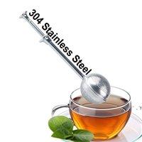 Nova Bola de Coador de Chá Empurrador Tea Infuser Folha Solta Teaspoon Filtro Filtro Filtro Home Cozinha Bar Ferramenta EWB6831
