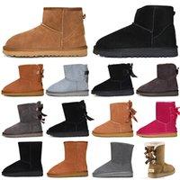 snow boots women winter boots أزياء النساء الثلوج الشتاء التمهيد الكلاسيكية البسيطة الكاحل قصيرة السيدات الفتيات النسائية الجوارب الكستناء البيج