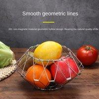 저장 병 항아리 다양 한 과일 바구니, 멀티 모양 스테인레스 스틸 트레이, 크리 에이 티브 개폐식 폴딩 블루 홈 주방 용품