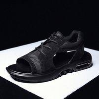 Incendios hombres verano zapatos tendencia sandalias moda masculina sandalias playa zapatos suaves fondo transpirable asustadores hombre encaje encaje encaje de malla pisos 91lr #