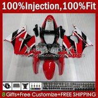 Spritzgusskörper für Kawasaki Ninja 600cc Zzr600 05 06 07 08 Körperarbeit 38HC.60 100% Fit ZZR-600 600 CC 05-08 ZZR 600 2005 2006 2007 2008 OEM Verkleidung Kit rot weiß neu