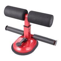 Kreative Fitnessgeräte Sit-up-Assist-Gerät Saugnapftyp Typ Bauchtrainer für Home Männer (rot) horizontale Bars