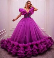 2022 Purple Plus Size Stylish Beaded Quinceanera Dresses Sweetheart Tiers Ball Gown Tulle Pageant Evening Prom Gowns