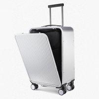 IRIS BOBS Side openy entreprise tout en aluminium métallique de couvercle ouvert chariot avant casy alliage magnésium suitcasy embarquement cas valise