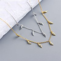 Chains A00869 925 Sterling Silver Geometric Little Pepper Cuban Chain Charm Pendant Necklace For Fashion Women Bohemian Jewelry