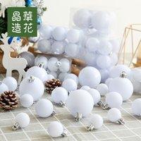 Fabrika Outlet Partisi Dekorasyon Tayvan Jinghua Çiçek High-end 3-8 cm Beyaz Mat Parlak Dekoratif Top Noel Ağacı /