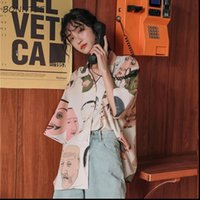 Chic Japan Druck Design Damenhemden Sommer Vintage Femme Funny Top Stilvolles Spiel Harajuku Daily Damen Streetwear