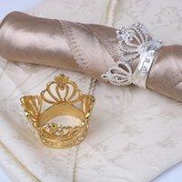 Taç Peçete Halka Zarif Peçeteler Tutucu Serviette Toka Otel Düğün Parti Masa Dekorasyon Için