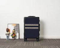 Überschrie Reise Koffer Gepäck Plaid Blume Air Box Mode Männer Frauen Kofferraumtasche Buchstaben Geldbörse Rod Box Spinner Universal Rad Duffel Taschen