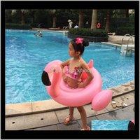 Tubes Été Enfants flottants Piscine Piscine Beach Jouets Enfants Life Bouée Sports nautiques Bébé Natation Pays gonflable Floats Flamingos DNSSQ Y80HQ