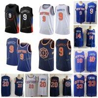 Şehir Kazanılan Sürümü RJ R.J. 9 Barrett Basketbol Formaları Allonzo 14 Trier 20 Kevin Knox Patrick 33 Ewing Walt 10 Frazier Erkekler Dikişli Boyut S-3XL