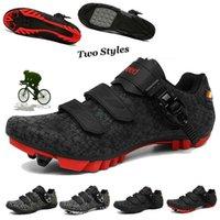 Men Cycling Shoes Mtb Sneakers Flat Spd Mountain Bike Self-locking Cleats Bicycle Women Speed Footwear