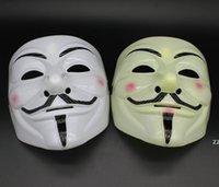 Máscaras de fiesta V para la vendetta Máscaras Anónimo Guy Fawkes Vestido de lujo Accesorio adulto Accesorio de plástico Party Party Cosplay Máscaras HWB11122