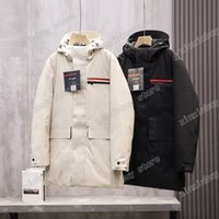 21ss men designers Jackets luxury Down Parkas Hooded Back reflective letters Red label letter triangle clothes mens Coats Outerwear Clothing