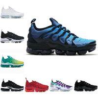 Satış 2021 Yeni TN Artı Erkek Koşu Ayakkabıları Pembe Deniz Üçlü Siyah Beyaz Kırmızı Gerilim Mor ABD Limon Kireç Bumblebee Gerçek Eğitmenler Spor Sneakers Y18