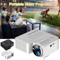 Écrans de projection UC28 1080P Accueil Cinéma Vidéo Vidéo Vidéo LED Mini Beamer Support 4K U Disk TF Carte STB