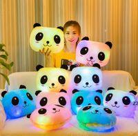 Colorido luminoso panda almohada peluche juguete gigante pandas muñeca incorporada led luces sofá decoración almohadas mar marítimo HWB9106