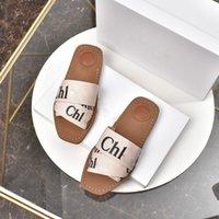Chloe sandals 2021 Mujeres Millones Woody Slipper Slipper Deis Lady Lettering Teládera de cuero al aire libre Sola Sandalia Sandalia 35-42