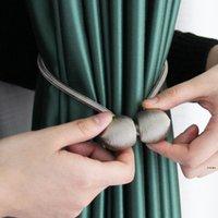 마그네틱 커튼 타이 백 고품질 홀더 후크 버클 클립 커튼 타이 백 폴리 에스터 장식 홈 액세서리 HWE5602