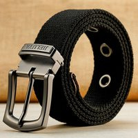 Belts 130 140 150 160cm Canvas Military Tactical Belt Man Alloy Pin Buckle Stripe Casual Jeans Women High Quality Outdoor