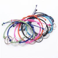 Pulsera de onda hecha a mano niñas impermeables Joyas coloridas encantos de trenza barata cordón bohemio vintage strand trenzado amistad pulseras 215 n2