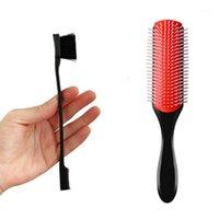 Handcraft 9-Row Detangling Hairbrush Borda de Controle do Duplo Pente de Borda Reta Curly Wet Hold Cabelete Massagem Escova de Pincéis1