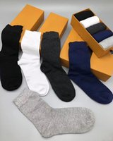 5PCS 1 Lot Designer Brands Men's Socks Comfortable Breathable Cotton Middle Length Stockings Male With High Quality