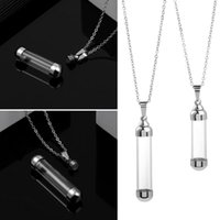 Chains Gift Openable Screw Cap DIY Jewellery Steel Chain Glass Vial Necklace Perfume Jars Wishing Bottle Pendant Lucky Charm
