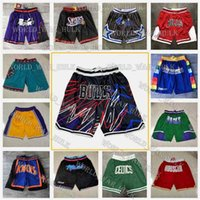 Juste Hommes Don Basketball Shorts Hip Pop Pop avec Pocket ChicagoTaureauxBostonCelticsÉtat doréGuerrierssport