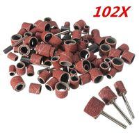 Sanders 102Pcs Drum Sanding Kit 120# Nail Drill Bits Abrasive Tools Accessories Sandpaper Shank Rotary