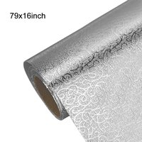 Multi-Size Kitchen Oil-proof Waterproof Stickers Aluminum Foil Stove Cabinet Self Adhesive Wall Sticker DIY Wallpaper