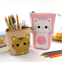 Симпатичные карандашный чехол для хранения коробки для хранения ручки телескопический макияж сумка всплывающая косметика сумка канцтовары офисный органайзер коробка для девочек