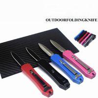 2021 HW277 Zinc-aluminum Folding Pocket Knife Outdoor Camping Hunting Knives Straight Jump Handle Survival Equipment