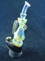 peak or carta recycler Glass hookah smoked silver smoking pipe, Dab rig bong 14mm joint price concessions