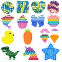 Party Gift Hand Push Pop Fidget Toy Colorful Kill Time Toys Multicolor Square Simple Dimple For Home School Office IN STOCK
