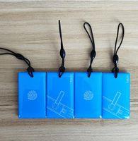 1000pcs Epoxi azul Etiquetas ID 125kHz T5577 Tarjeta reglitable RFID Duplicador Copia Clon KeyFobs Impermeable Llavero Insignia Token Talla