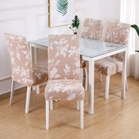 Chair Covers Flower Print Spandex Stretch Wedding Party Dining Protector Removable Cover Washable Slipcover Room Seat