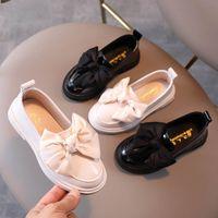 طفل أحذية رياضية أحذية أطفال أحذية جلدية ربيع الخريف القوس bowknot الأميرة الأخفاف لينة الأطفال ارتداء B7832