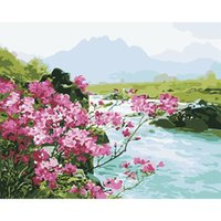 Paintings Safflower By The River Paint Numbers Coloring Hand Painted Wall Art Kit Drawing Canvas DIY Oil Painting Pictures