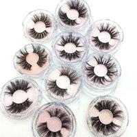 3D 100% Mink Eyelashes 25MM Dramatic Messy Volume False Eyelash Thick Long Soft Lashes Extension for Beauty Makeup