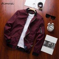 Men's Jackets DIMUSI Spring Bomber Zipper Jacket Male Casual Streetwear Hip Hop Slim Fit Pilot Coat Men Clothing Plus Size 4XL,TA214