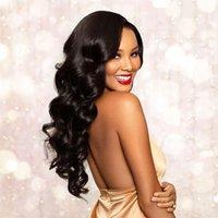 브라질 버진 인간의 머리 가발 레이스 프론트 블랙 컬러 Pre 뽑은 자연 hairline 표백제 매듭 360 짧은