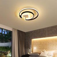 Plafonniers de plafonniers montés à la surface LED rond avec télécommande pour chambre à coucher Salle à manger Salle de salle à manger Aisle Lusure AC90-260V