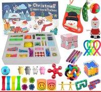 Fidget Toys Avent Calendrier Pack Décorations de Noël Anti-Stress Jouet Set En Marbre Cadeau Sensory Sensory Relief Fidget Boîte aveugle pour l'anniversaire de fête
