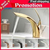 Golden Chrome White Orb Polished Basin Faucet Single Handle Hole Bathroom Mixer Taps 5 Colors For Choose Sink Faucets