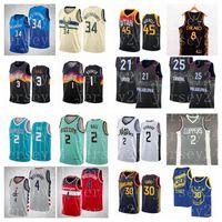 Basketball-Jersey Russell Westbrook Donovan Mitchell Lamelo Ball Kawhi Leonard Giannis AntetokounMPO Stephen Curry ChrisPaul Devin.Buchernba.Trikots