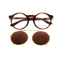 Women Clip On Sunglasses Men polarized removable Clips Flip Up Glasses Round retro Tortoise light Optical driving sun glasses