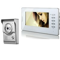 Video Door Phones Intercom 7''Inch Monitor Wired Doorbell Phone Speakephone System 1 Camera For Home
