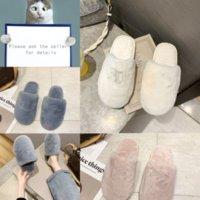 C7AMU LEADCAT FANY RIHANNA Chaussures Femmes Pantoufles Indoorgirls Fashion Scuffs Lettre Rose Noir Blanc Blanc Gris Gream Designer Fourrure Diapositives