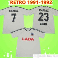 Colo Retro 1991 1992 Soccer Jerseys Argentina CSD Home Bianco Vintage Camiseta de Fútbol Classic Football Shirt Top Uniformi Camisa de Futebol 91 92